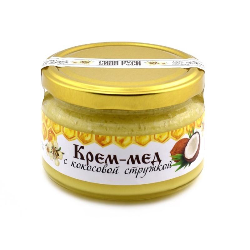 Крем-мёд с кокосовой стружкой